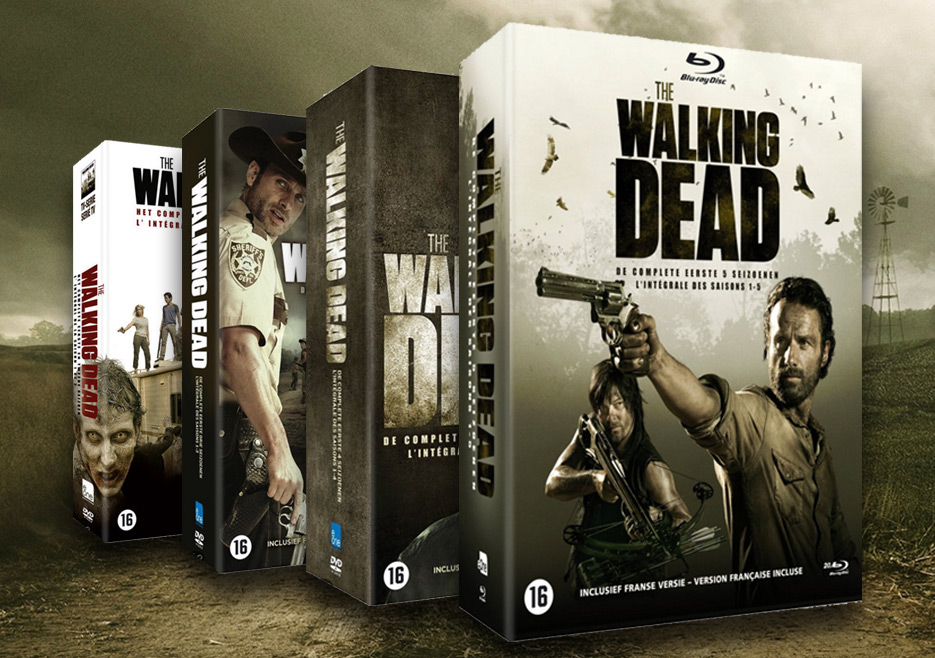 the walking dead dvd box